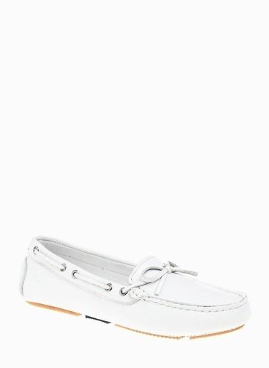 George Hogg %100 Deri Loafer Ayakkabı Beyaz